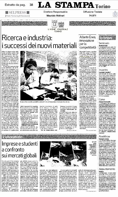 Articolo - La Stampa